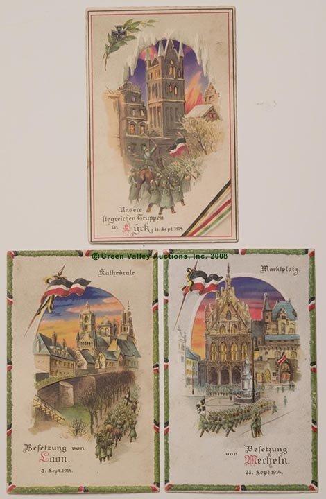 604: HOLD-TO-LIGHT GERMAN WORLD WAR I POST CARDS, LOT O