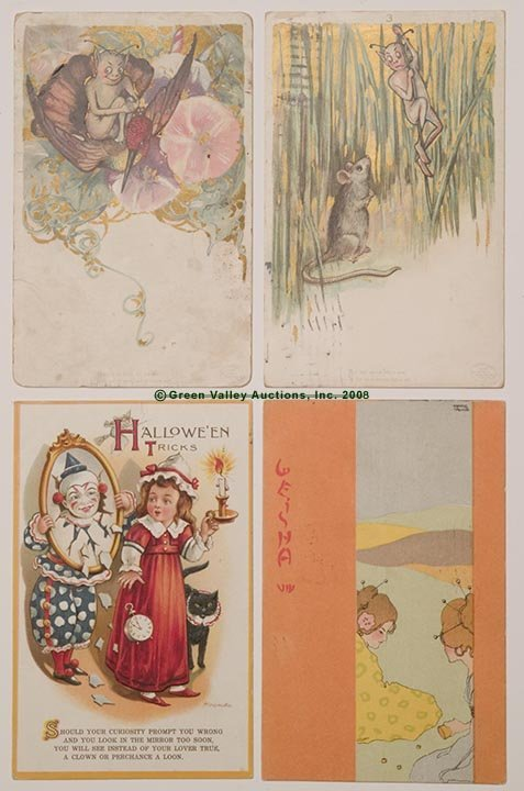 610: VARIOUS ARTIST POST CARDS, LOT OF FOUR, consisting