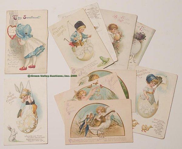 614: ELLEN H. CLAPSADDLE SIGNED POST CARDS, LOT OF TEN,