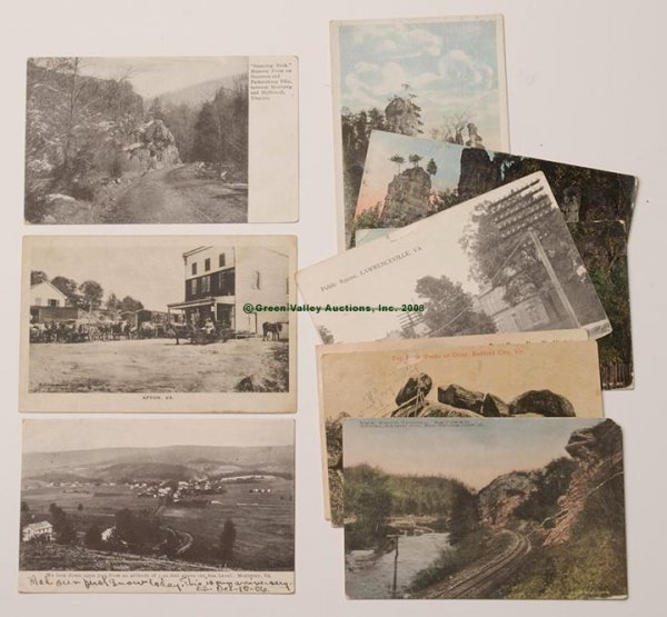 616: VIRGINIA VIEWS POST CARDS, LOT OF TEN, including A