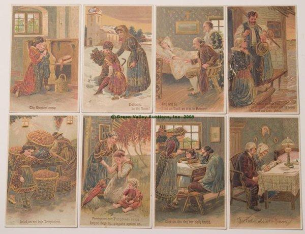 617: PFB LORD'S PRAYER POST CARDS, SET OF EIGHT, series