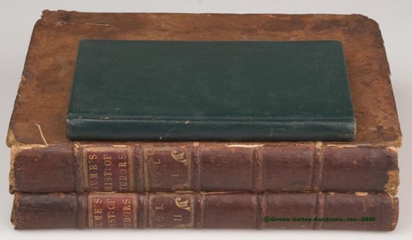 """620: EARLY BRITISH VOLUMES, LOT OF THREE, """"The History"""