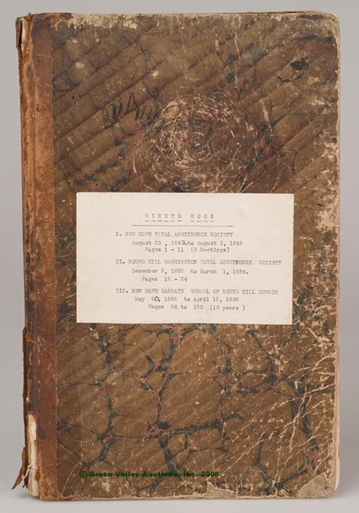 623: AUGUSTA CO., VA MINUTES BOOK, containing the New H