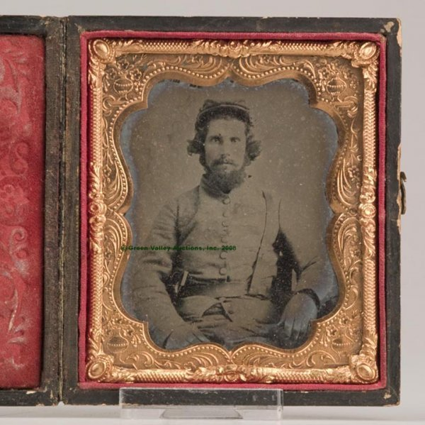 636: IDENTIFIED VIRGINIA CONFEDERATE AMBROTYPE IMAGE, s