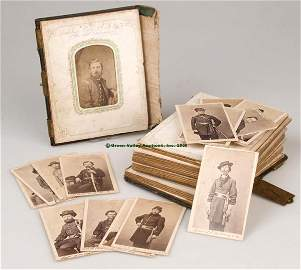 639: CIVIL WAR CDV IMAGES OF THE 7TH ILLINOIS CAVALRY,