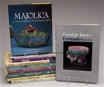1681: MAJOLICA CERAMICS REFERENCE VOLUMES, LOT OF 12, C