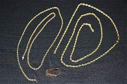 Collection of Gold Jewelry Parts