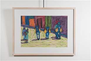 "Tony Ortega, ""LaCoQueta"", Pastel on Paper"