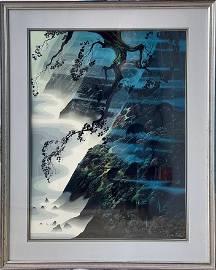 "Eyvind Earle ""Sea, Wind and Fog"" Serigraph Signed"