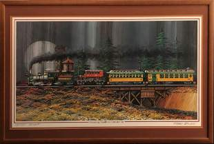 """Fred Bonn """"Steaming South to Carson"""" Signed Litho"""