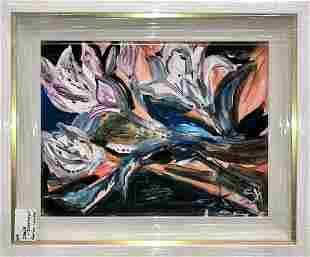 "Irish Rainbeau ""Easter Lilies"" Original Oil"