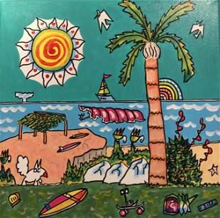 "Kimm Byers ""Wind 'N' Sea II"" Acrylic Signed"