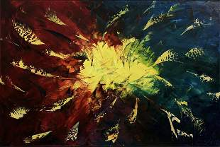 """Eugenia Abramson """"Shining Through"""" Acrylic Signed"""