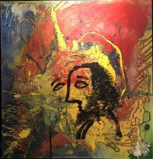 """Jack McIntire """"Second Thought"""" Mixed Media Signed"""