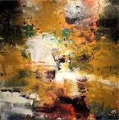 Jorn Fox Abstract Oil on Canvas Signed