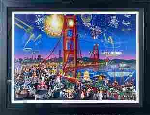 "Melanie Taylor Kent ""Golden Gate Bridge"" Signed Seri"