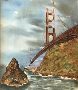 """John Genis, From Estate of Artist """"Golden Gate Bridge"""""""