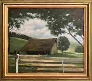 "Richard Danskin ""Lake Cachuma"" Oil on Canvas Signed"
