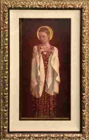 """James Christensen """"Saint With White Sleeves"""" Lithograph"""