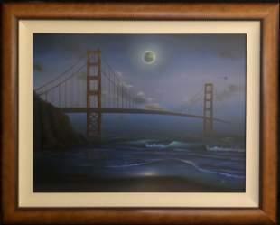 Arie Yosef (Golden Gate Bridge) Giclee on Canvas Signed