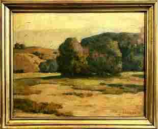Jacob Richard Landscape Original Oil on Board Signed