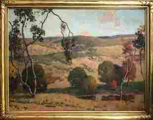 Jacob Richard Landscape '33 Oil on Canvas Signed