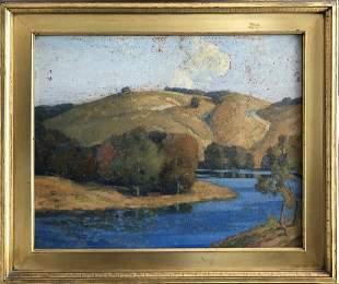 Jacob Richard Landscape Original Oil on Board