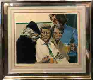 """Aldo Luongo """"Hawk and The Brothers"""" Serigraph Signed"""