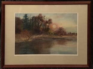 Virgina Braun Signed Original Watercolor