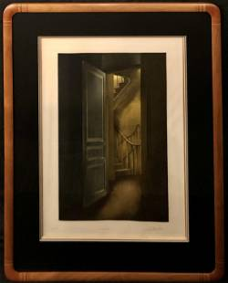 """Christian Wouters """"L'escalier"""" Etching Signed"""