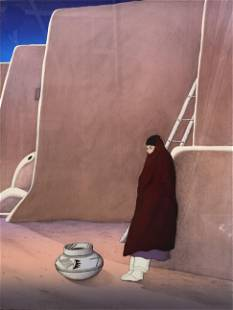 "R.C. Gorman ""Taos Woman"" Lithograph Signed"