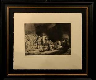 """Rembrandt """"The Hundred Guilder"""" Etching"""