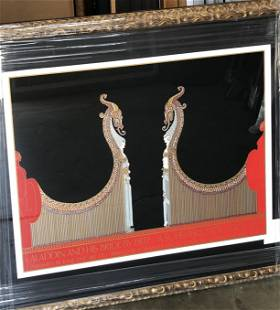 """ERTE """"Aladdin and His Bride"""" Serigraph"""