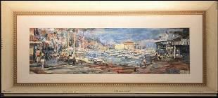 "Jorn Fox Original Oil on Canvas ""Avalon Days"" Signed"