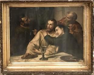 """Leonardo da Vinci (In the Style) """"The Last Supper"""" Lith"""