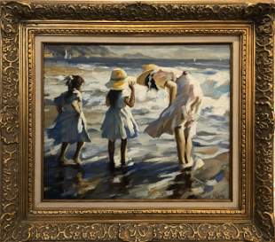 Pierry Original Oil on Canvas Signed