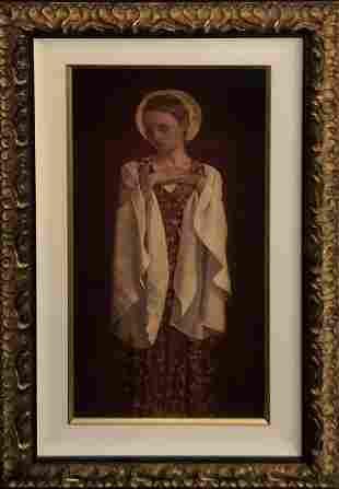 "James C Christensen ""Saint with White Sleeves"" Signed"