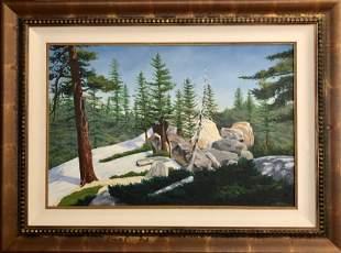 Keyes Original Oil on Canvas Signed