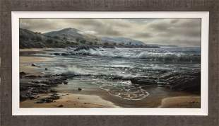 "Raymond Sipos ""Aliso Beach"" Acrylic Landscape Signed"