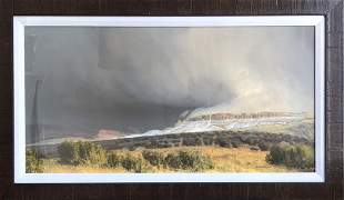 """Wilson Hurley """"Snow Squalls, Central Utah"""" Signed Litho"""