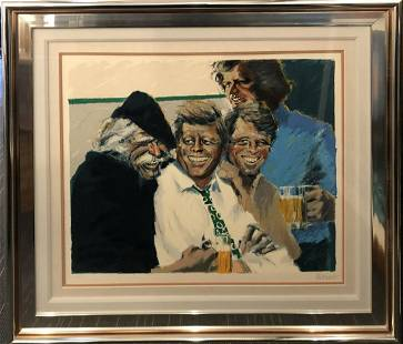 """Aldo Luongo """"Hawk and The Brothers"""" Signed Serigraph"""