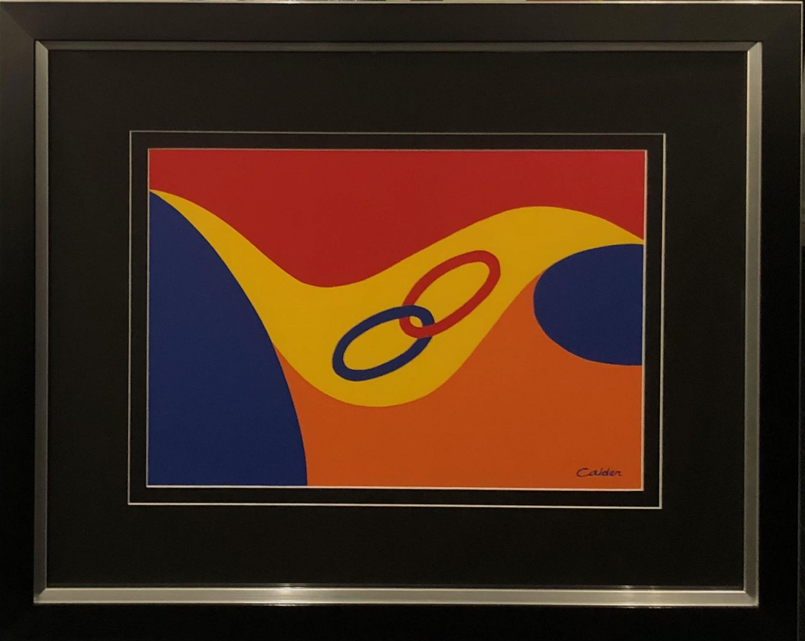 Alexander Calder Abstract Plate Signed Lithograph