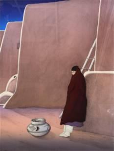 "R.C. Gorman ""Taos Woman"" Signed Lithograph LE"