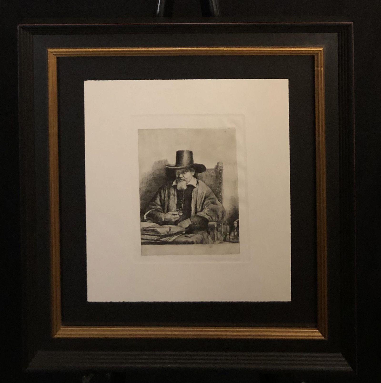 "Rembrandt ""Portrait of Arnold Tholinx"" Etching"