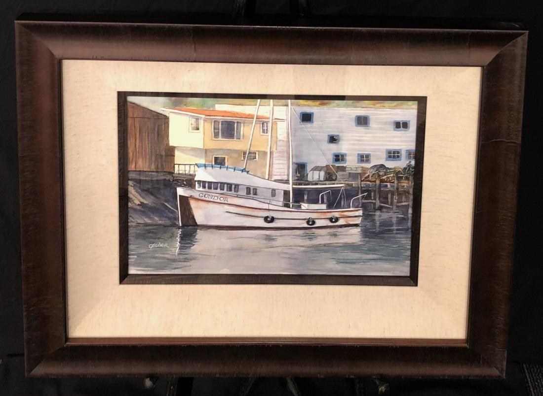 Marvin Gelder (Condor Fishing Boat) Signed Original