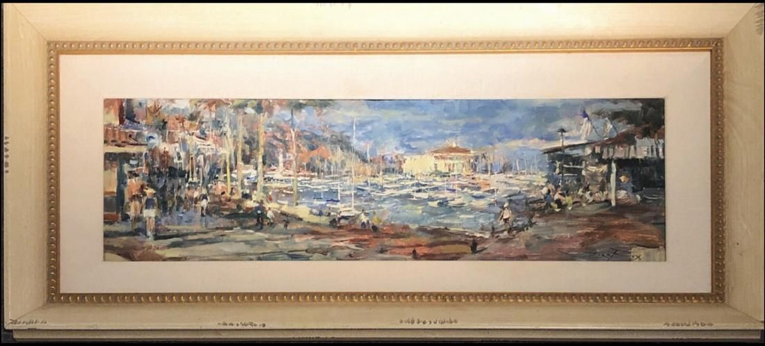 Jorn Fox Impressionist Signed Original Oil on Canvas