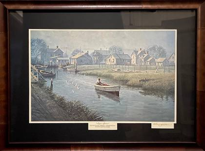 """John M. Barber """"August Afternoon"""" Signed Lithograph LE"""