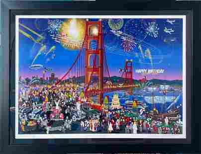 """Melanie Taylor Kent """"Golden Gate Bridge"""" Signed LE"""