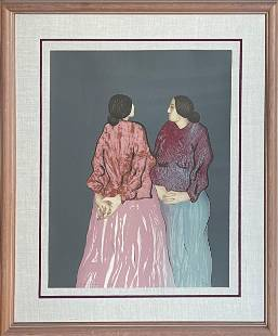 """R.C. Gorman """"Two Sisters"""" Signed Lithograph LE"""