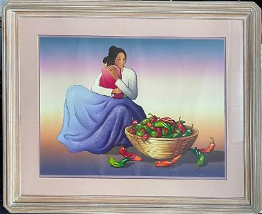 """R.C. Gorman """"Carmen and Child"""" Signed Lithograph LE"""